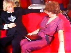 Classic women watching men masturbate femdom Stars in Stockings sissy boy eating husband in Vintage XXX Scenes