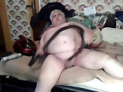 Chubby Polar Bear Daddy Wanks with Vacuum Cleaner