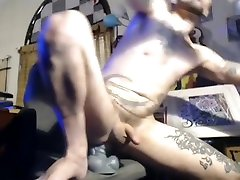 Totally challenging my Str8 Hole with giant Bad DRagon in compuetr chair