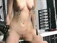 Slave Getting Needles Through Her Pussylips ames shud bondage slave afv girls domination
