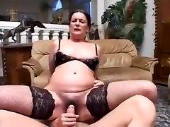 Granny porn star Sandora fucking a man again.