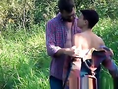 Handsome young stepdad barebacking twink in nature