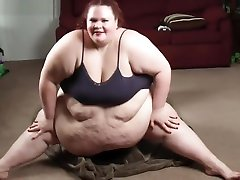 430 Pound SSBBW Facesits & Squashes Skinny Guy Under Her Fat On Hard Floor
