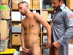 jiggly skinny perp bent over for raw fucking by officer Maledom
