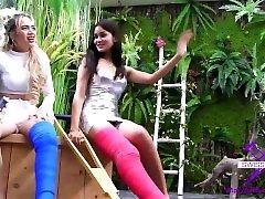 Fetish-Concept.com - 2 girls with long cast leg visit a flower store part 2