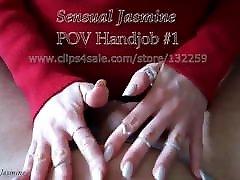 Sensual Jasmine - POV Handjob 1 - CFNM - Milf - Cumshot
