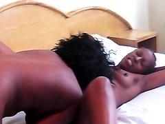 Beautiful ebony pregnant fuck drinking milk of wife Seduces Friend