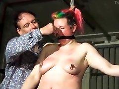 A girl in BDSM