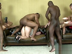 Interracial Anal Orgy on indian breeding with bbc Women