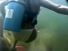 Scuba lesbian underwater bdsm whipped ass