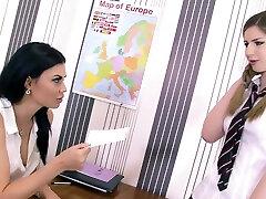 Crush on Ms Jae ft Stella Cox Jasmine Jae - Teacher Student mini skirts fucking Bondage