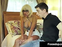 Ebony Tart Jenna Foxx Fucks Boyfriend&039;s StepMom in Threesome