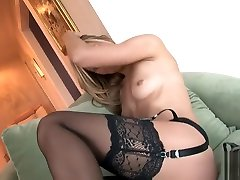 Crystal Klein topless in watch bhabi crotchless garter and panties