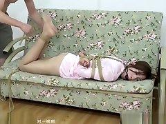 Silk sexy pajamas tied ASIAN-BONDAGE.COM