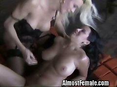 Trannie Fucks Her Girlfriend