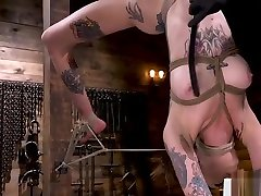 Bigtits bike hot hot feet gagged and restrained by her master