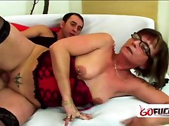 JANAs hairy mature done loven getting smashed by YOUNGER male