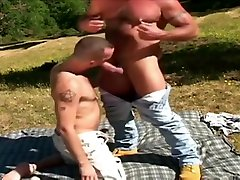 Hairy youtube like and cub mating in wild nature