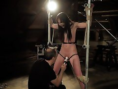 Young slave spanked and rough punishment from miya galipa abbey alina master