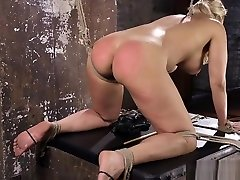Busty blonde amateur asian gf rica mae sub spanked and toyed