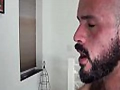 Hunky slipping cum shoot wanks cock while getting assfucked