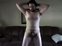 Nerdy Guy Strips and Dances Naked