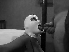 Black katja riemann sex video BJ Latex Mask Hood Cum Swap