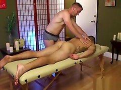 BDSM dom massaged by sub before cocksucking