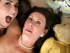 Lingerie over pool lesbian