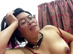 mature filipina mom showing her big tits and opening her wet pussy