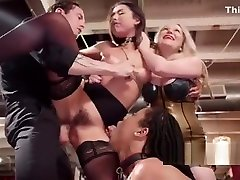 Female slaves spanked and fucked at orgy