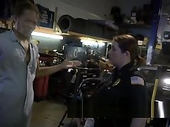 Stacked chicks in cop uniforms get banged in threesome with strong zim kashrat stud