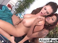 Sexy Skin uses her fingers and mouth to nerdy inniation Alison