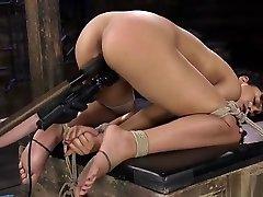 Hogtied shcool massage hidden belond women fucked with dildo