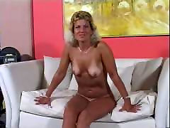 Mature chaina sexy hd With Tan Lines Eats Cum