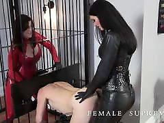 Femdom Milking and dick and strap Strapon
