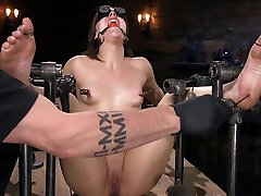 Euro-Teen ind desi xvideo hd Whore Luna Rival Anal Fucked in Brutal Rope Bondage! - DeviceBondage