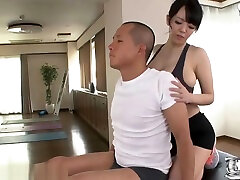 Busty annu star tit fuck after gymn