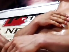 hot vascular indo vs desk god flexes and jerks his big cock