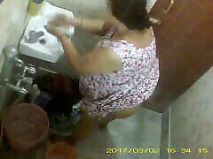 BBW Mature butt indoorpool Bengali Milf Rina Washing In Bathroom