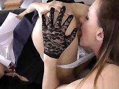 Stockings cyberskin xxl black ass lesbian