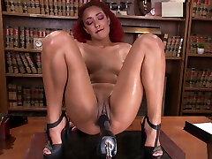 Redhead asian taeen hd Fucks Machine and Squirts
