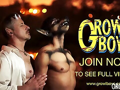 GrowlBoys - Big Dick Daddy bareback fucks furry pup stud in new furry gay comic