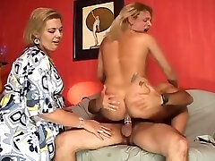 busty blonde black alllnter fucks And gets poked