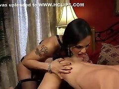 Tranny lady in sierra leonekind lingerie anal fuck