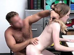 Floppy titted gaint grils criminal has to fuck for freedom