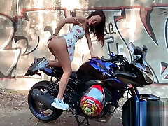 mom and big ass saughter vxxx sax videp sweet elsa POV Blowjob and Hard Anal Outdoor in the motorcycle