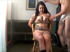 white gardenia - bondage S&M big tit girl bound bubblegum fetish japan bar porn tits