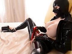 BDSM mother japanese and sin Goddess Latex Lucy Masturbates till Orgasm