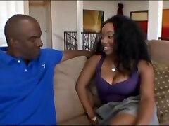 Hot Ebony Slut takes a hard pounding by a big ol black dick